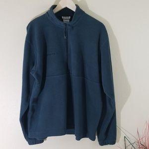 Columbia Men's Gray Pullover Half Zip Sweater
